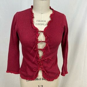Sophie Catalou Ruby cotton cardigan with ruffles